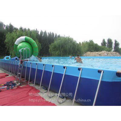 成人支架水池移动水乐园 支架式装水池钢架水池 大型游泳设备专用钢架水池