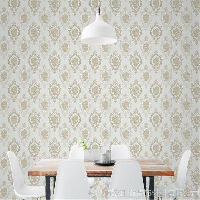 批发高档家装壁纸素雅提花墙布现代客厅卧室背景墙环保无缝壁布