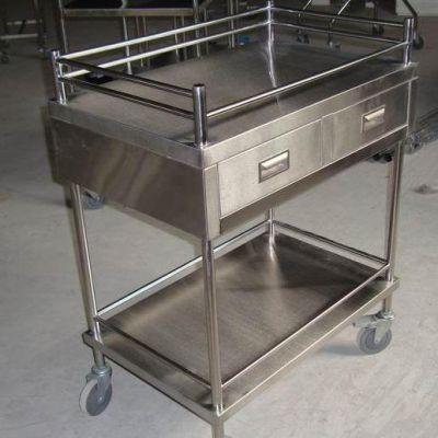 锦盛利供应GJG-1256 不锈钢工具车,医院专用不锈钢推车,不锈钢手术车