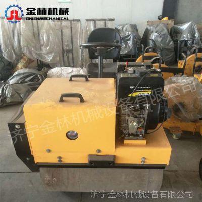 座驾式小型压路机金林机械供应 1吨双轮压路机