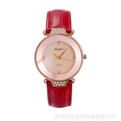 2018年新款女式超薄不锈钢手表简约时尚女孩石英手表