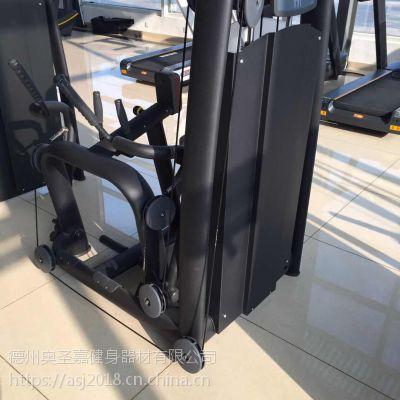 工作室健身房大型力量不锈钢器械坐式肩膊后展训练器