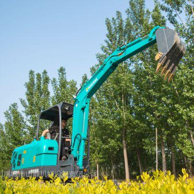 长臂小型挖掘机 山鼎小型挖掘机厂家直供