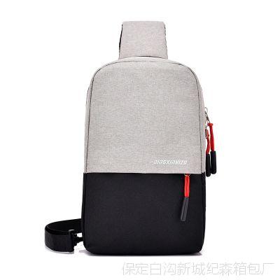 2018新款时尚休闲单肩包胸包斜挎包 简约轻便旅行小背包