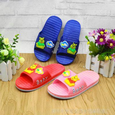 2018夏季 儿童拖鞋 小童男女款一字拖鞋居家室内外防滑凉拖批发