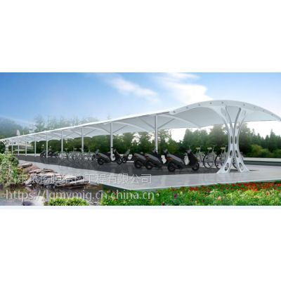 山东慕扬膜结构国产优质膜材制作安装公共停车棚遮阳棚挡雨棚建筑
