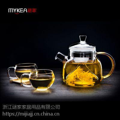 谜家/MYKEA 850ml高硼硅耐热玻璃琉彩壶BH178801