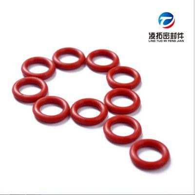 厂家直销铁红色硅胶O型圈弹性好食品级无毒抗变形硅橡胶O型圈
