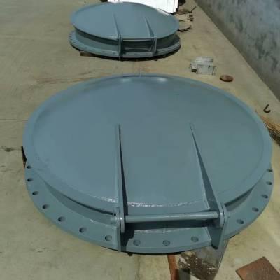 宇东定制供应PMY-800不锈钢拍门 304材质 法兰连接 混凝土管道 洞口贴墙式安装均可生产
