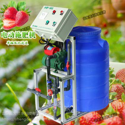吉林施肥机怎么安装 松原大棚草莓滴灌手动水肥机价格实惠好操作
