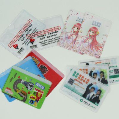 专业定做pvc防磁银行IC卡公交卡套定制logo促销礼品工作证件卡套