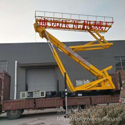 高空压瓦机设备 钢结构空中制瓦车 履带式高空压瓦机