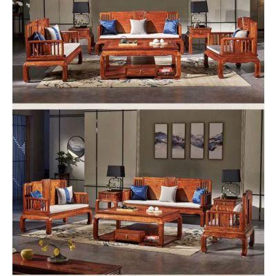 新中式环保红木家具 刺猬紫檀软体沙发 名琢世家厂家直销