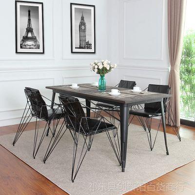 创意餐椅金属铁丝椅 简约铁艺镂空个性家具 loft设计师工业风椅子