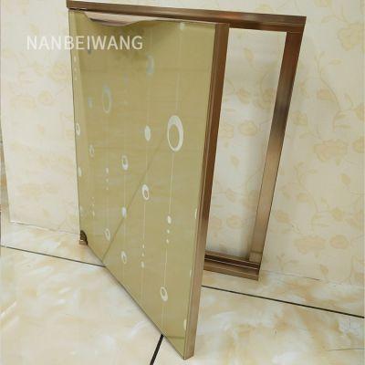 橱柜门钢化玻璃 铝合金材料 晶钢门带外框款32横框 免费学习