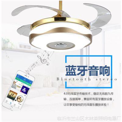 LED隐形吊扇灯餐厅风扇灯客厅灯卧室灯家用现代简约灯亚克力灯具