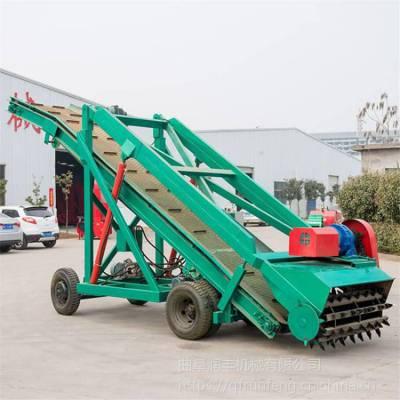 能装草料用青贮取草机 润丰 机器能自动行走进去青贮坑取料机