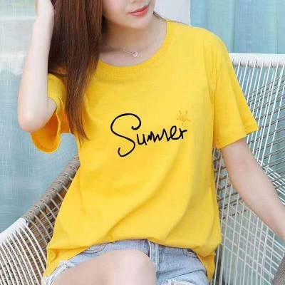 短袖夏季T恤超低价批发 海南厂家大量供应便宜跑量男女圆领印花T恤批发