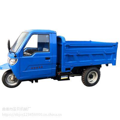 小型工程沙土车建筑电梯拉货三轮车柴油自卸翻斗成人运输农用三轮厂家