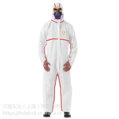3M 4565 白色带帽红色胶条连体医用防护服