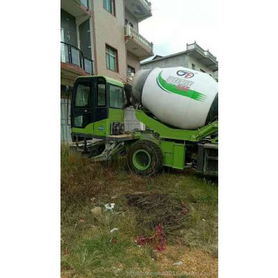 郑州2.4方分体式自装卸水泥搅拌罐车 城镇郊区施工专用自上料搅拌站