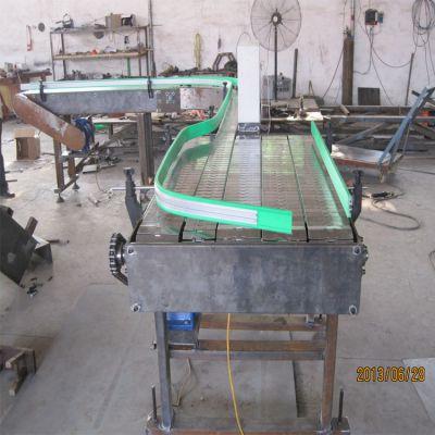 不锈钢板链输送机厂家直销转弯机提升机