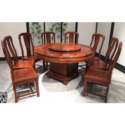 花梨红木家具餐桌椅 一桌6椅子组合 厂家报价