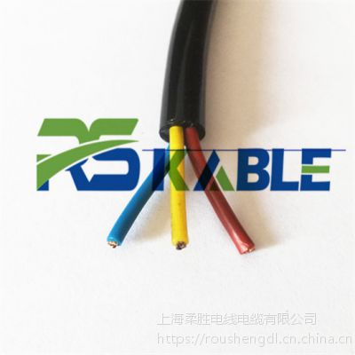 Blue2磨砂面PUR聚氨酯水下电缆3*18AWG动力电源线大电流耐压3MPA