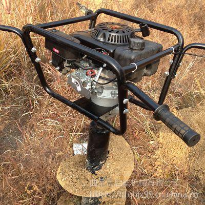 园林植树挖坑机 葡萄园栽桩挖坑机地钻机 启航果树种树打洞机
