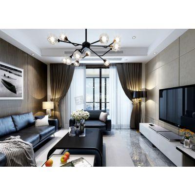 江北天古装饰万科御澜道115平米户型装修-雅致轻奢风格设计
