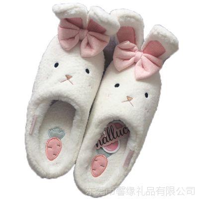 厂家定做秋冬季室内家居家用棉拖鞋包跟男女情侣防滑厚底毛绒棉鞋