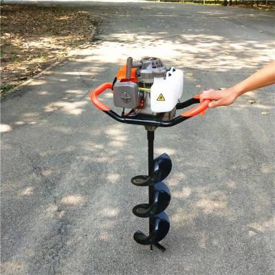 河北家用手提式挖坑机 单双人可操作多功能汽油挖坑机
