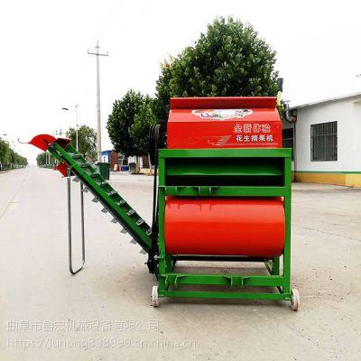新款柴电两用花生打果机/牵引式干湿两用花生去秧机/河南花生摘果机