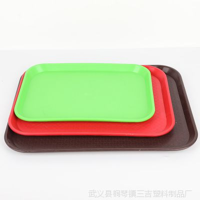 厂家直销酒店托盘长方形盘子蛋糕快餐面包托盘塑料托盘水果盘