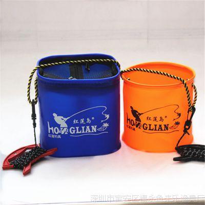 圆形方形高质量加厚EVA可折叠打水桶提水桶活鱼桶野营提水桶