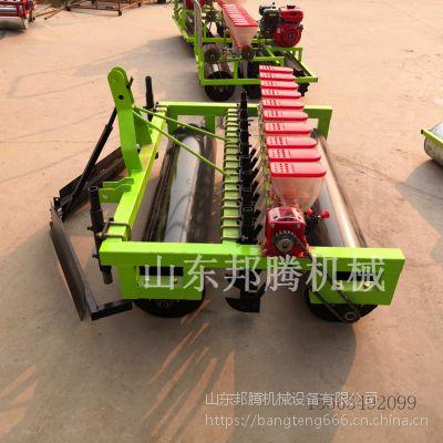 南通汽油手推多功能播种机 自走式行距株距可调蔬菜种植机