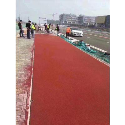 江苏彩色防滑路面-弘康彩色路面施工-彩色防滑路面施工