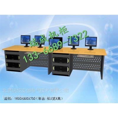非线性编辑台 办公桌 1.6米单机柜非编台非编桌录音棚工作台