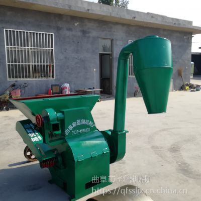花生秧自动进料粉碎机 大产量饲料粉碎机 圣鲁牌