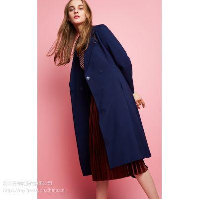 女装折扣尾货走份戈洛瑞丝19年春装新款风衣外套