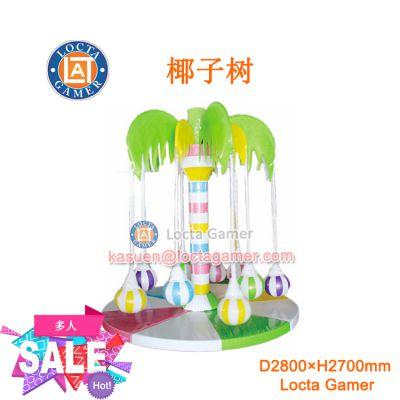广东中山泰乐游乐儿童电玩嘉年华游乐设备室内淘气堡充气堡旋转攀爬电动升降椰子树(TQ-06)