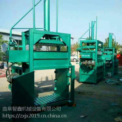 40吨单双缸立式废纸吨袋压块机 高质量半自动液压打包机