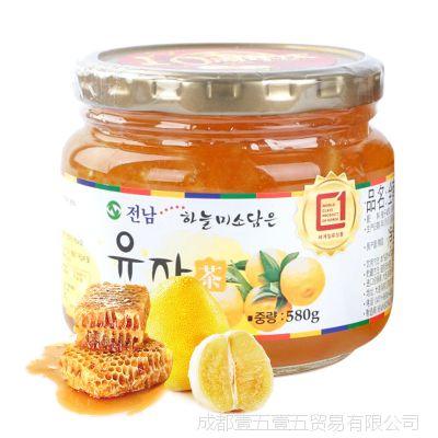 韩国进口 全南蜂蜜柚子茶580g 果味茶 进口食品 冲调饮品