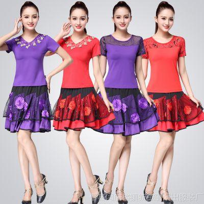 广场舞服装新款套装夏季2018舞蹈服女成人短袖杨丽萍跳舞衣服