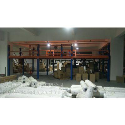 工字钢阁楼货架 重型阁楼货架定制 宝安阁楼货架生产厂家
