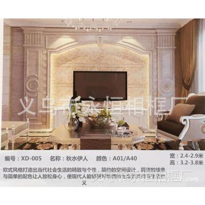 电视沙发背景墙厂家批发欧式通体仿大理石罗马柱 客厅电视背景墙