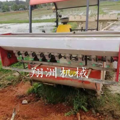 1.5米旋耕机后置不锈钢撒播机 2.5米履带旋耕机打浆机前置施肥器
