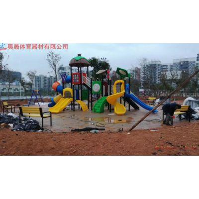 湖南小朋友爱玩的滑滑梯组合 玻璃钢材质 长沙幼儿园与小区公园里必不可少的游乐设施