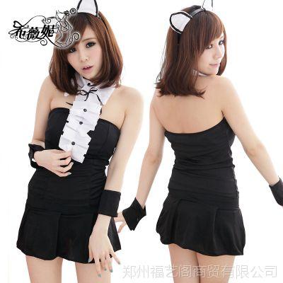 新款万圣节服饰 cosplay 性感黑猫裙服装猫女郎动物角色扮演 DS40