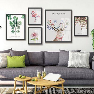 电视餐桌连走廊墙面带客厅背景墙装饰画现代简约挂画画书房卧室
